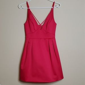 Topshop pink dress size us2